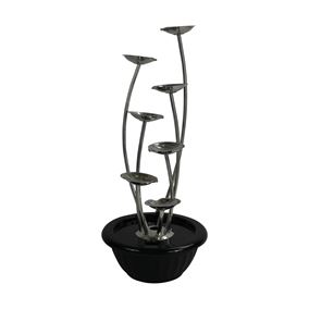 7 Pouring Petals Stainless Steel Water Feature