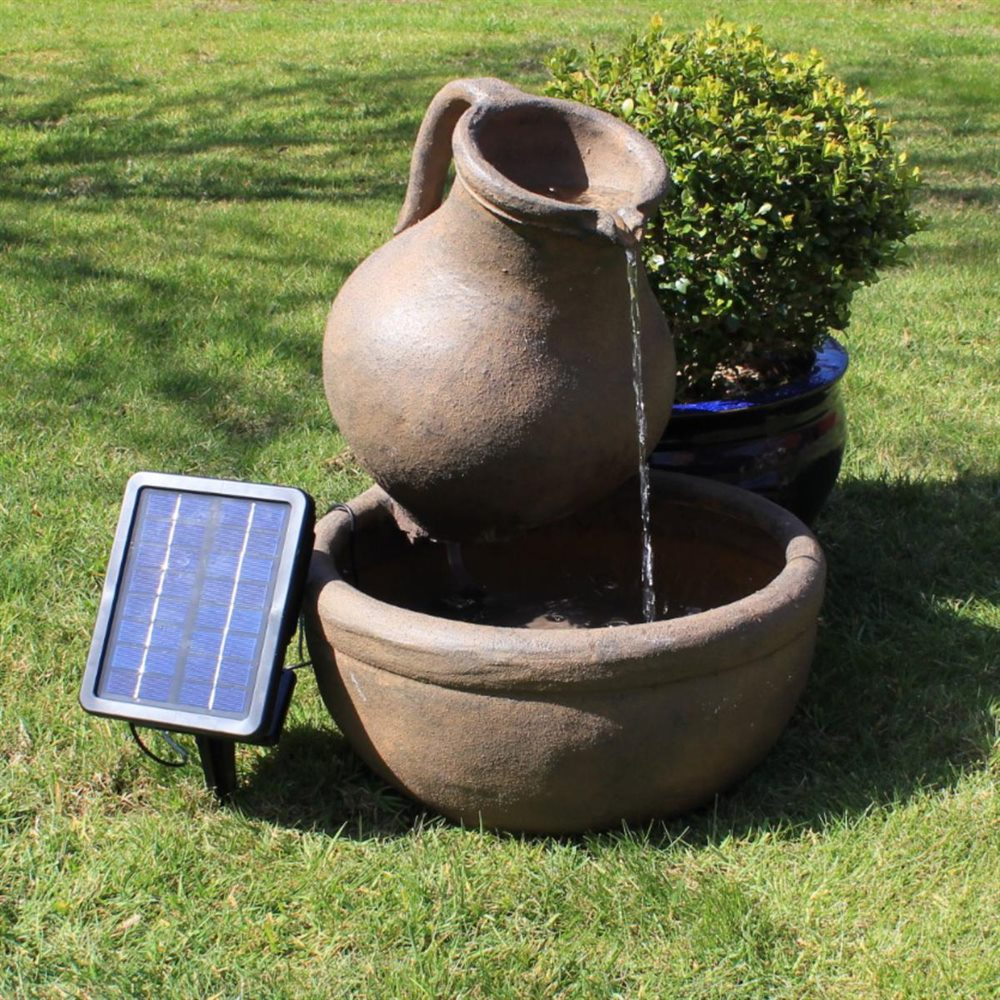Jug U0026 Bowl Solar Powered Garden Water Feature