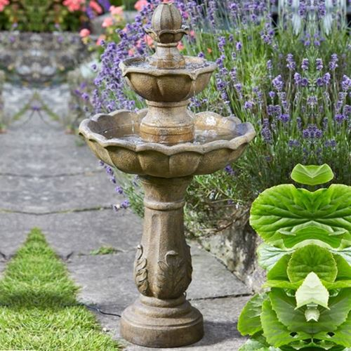 how to clean a stone water feature