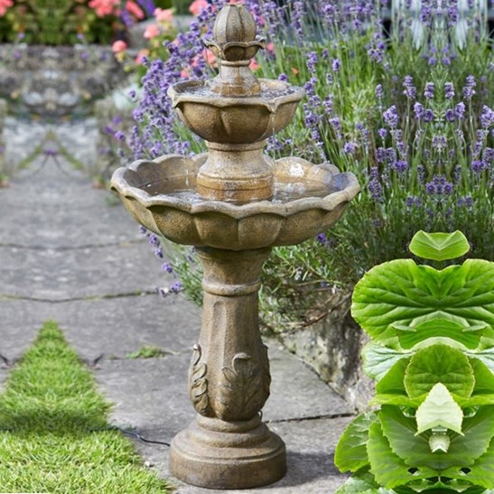 Water Gardens And Features: Kingsbury Two Tier Fountain Solar Water Feature