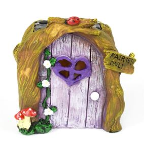 The Willowdale Collection Lilac Fairy Door Solar Light