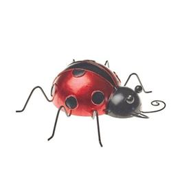 Ornamental Ladybird Metal Garden Decor