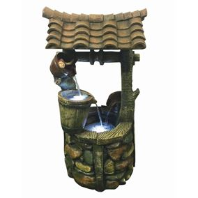 Large Well Lit Water Feature