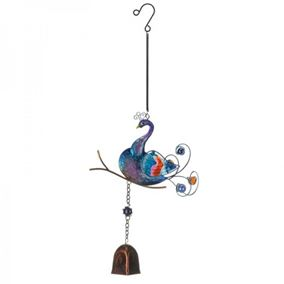 Colourful Hanging Peacock Garden Wind Chime with Bell