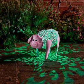 Solar Powered Colour Change Delilah Pig