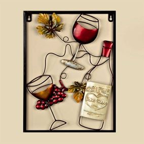 Red Wine Bottle Garden and Home Wall Art