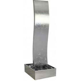 The Wyle Falls Stainless Steel Cascade Water Feature