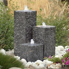 Savannah Granite Water Feature with LED Lights