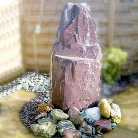 7ft Drilled Natural Slate Monolith