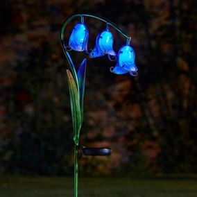 Solar Glass Bluebells Flower Lights (2 Pack)