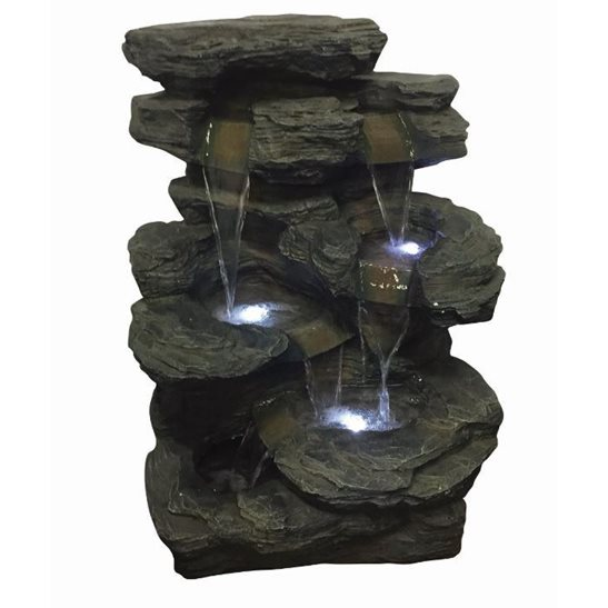 Springfield Slate Falls Lit Water Feature