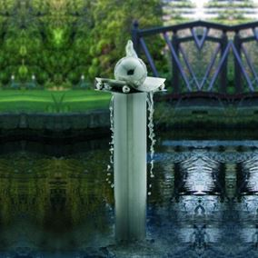 The Nelson Column and Sphere Stainless Steel Water Feature