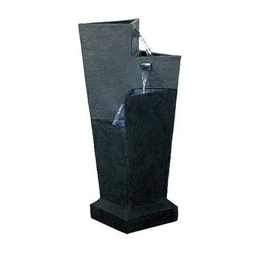 additional image for Triangular Three Fall Black Water Feature (Solar Powered)