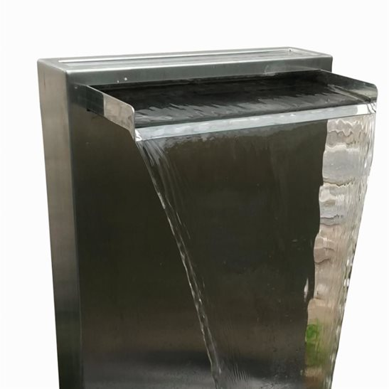 additional image for Self Contained Stainless Steel Water Blade Wall Water Feature