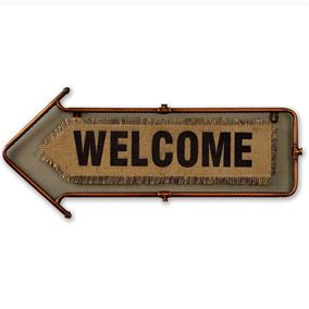 Welcome Arrow Garden and Home Wall Art