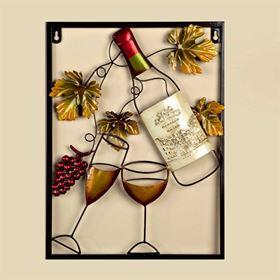 White Wine Bottle Garden and Home Wall Art