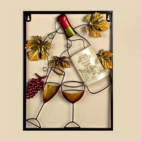 White Wine Bottle Garden and Home Wall Art