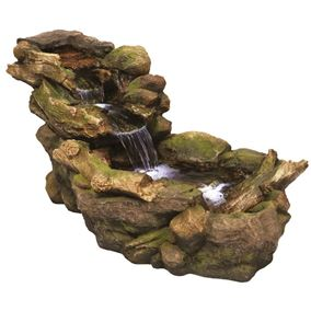 Woodland River Water Feature with LED lights