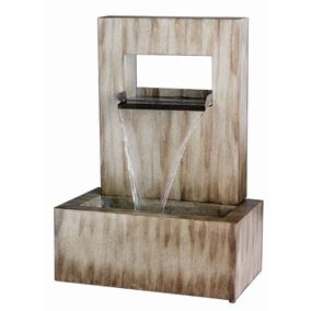 Zinc Metal Free Standing Water Feature with Sheet Water Blade Effect