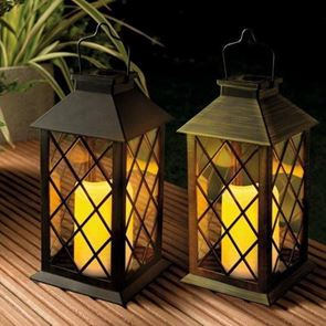 Gardman Solar Traditional Candle Lantern (Black)