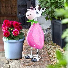 Spotty The Cow Cute Garden Decor Ornament
