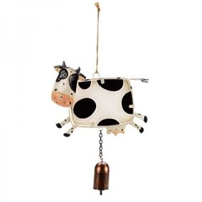 Colourful Hanging Cow Garden Wind Chime With Bell