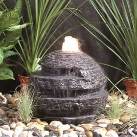 40cm Rustic Black Sphere Water Feature Kit