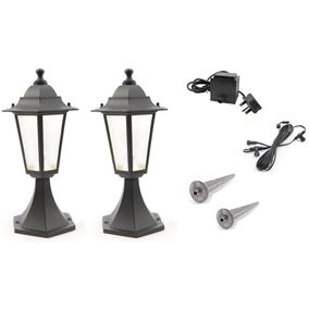 Set of 2 Low Voltage LED Lumineo Garden Lamps