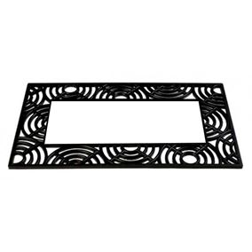 Rubber Base Tray Doormat with Circle Design