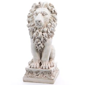 Giant Proud Lion Stone Effect Outdoor Garden Statue