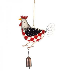 Colourful Hanging Rooster Garden Wind Chime With Bell