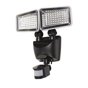 900 Lumens Ultra Bright Solar Powered Security Double Floodlight