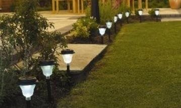 UK Water Features - Solar lighting, a simple yet very effective way to light up your garden
