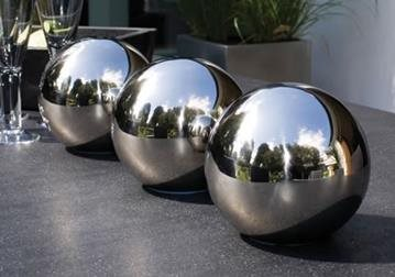 Stainless Steel Sphere Water Features - Love Your Garden