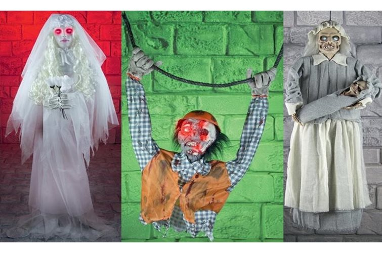 Give Your Guests a Scare With Sound & Motion Activated Decor!