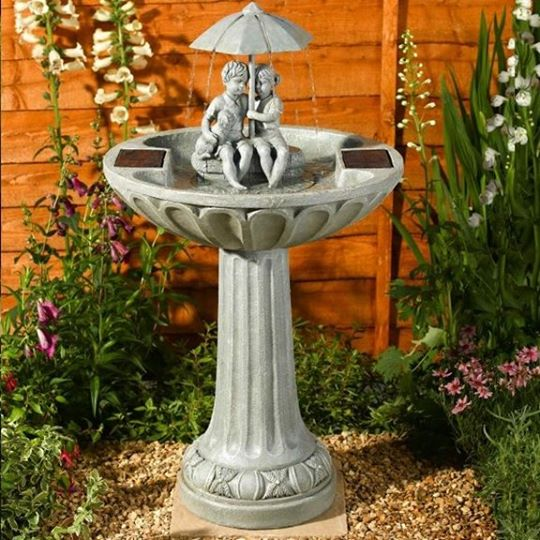 Umbrella Fountain Solar Water Feature Installation Guide