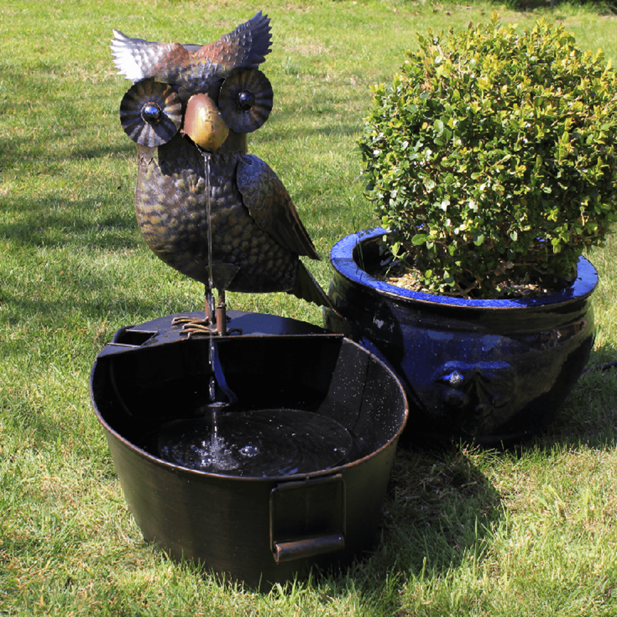 Gardman Owl Water Feature Set Up