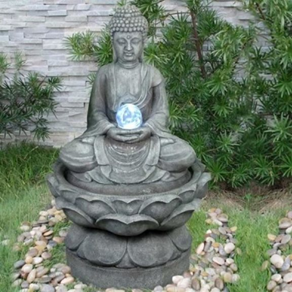 additional image for Medium Buddha with Crystal Ball Water Feature