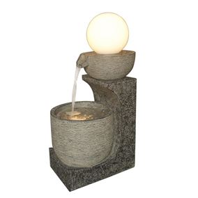 Pouring Glowing Globe Water Feature