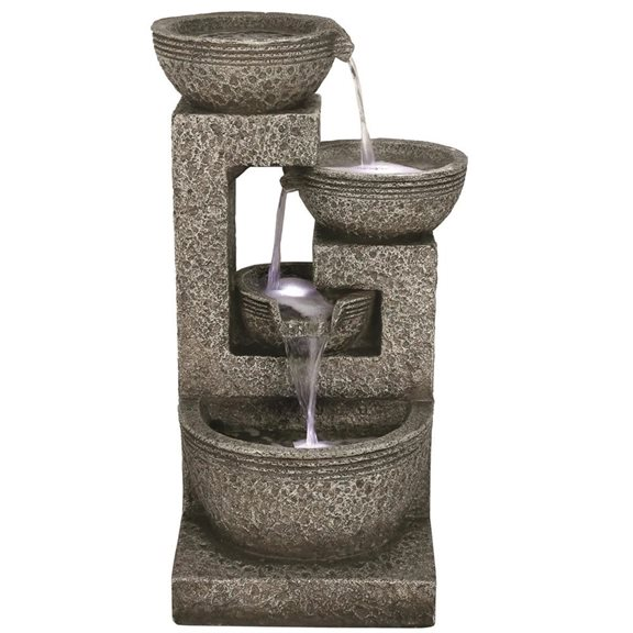 Large Grey 4 Bowl Water Feature