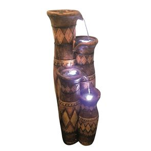 Aqua Creations Aztec Jugs Water Feature with LED Lights