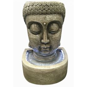 Classic Buddha Head Water Feature with LED Lights