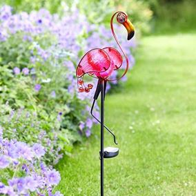 Pink Flamingo Garden Stake Light Outdoor Solar Powered Light