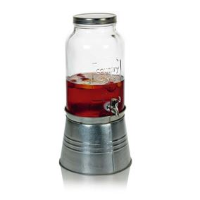Retro Glass Tabletop Drinks Dispenser