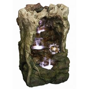 Woodland Hidden Falls Water Feature with LED Lights