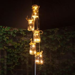 5 Bottles LED Parasol Cluster Lights