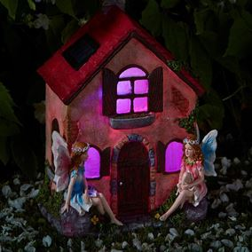 Fairies Only Solar Powered Fairy House Dwelling (Elvedon Collection)