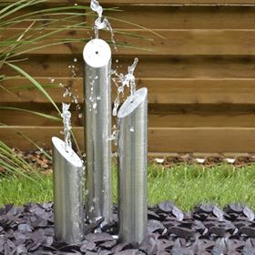Mini Avon Fountain Stainless Steel Water Feature Brushed Finish