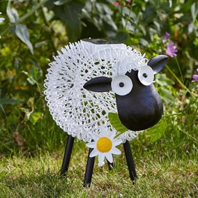 Metal Dolly Sheep Silhouette Solar Light