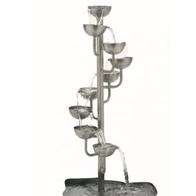 Winding Cascade Pouring Pots Stainless Steel Water Feature